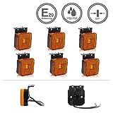 LED-MARTIN 6er Sparset SU7 Umrissleuchte - inkl. Halter - gelb/orange - zugelassen für den...