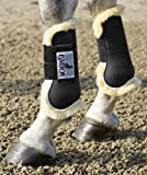 Eskadron Protection Boots Lammfell Gamaschen, schwarz, Pony
