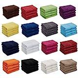 4er Pack zum Sparpreis, Frottier Handtuch-Serie - in 7 Größen und 16 Farben 100% Baumwolle 500...