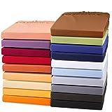 aqua-textil Exclusives Spannbettlaken 180x200-200x220 Wasser - Boxspringbett Mako Baumwolle Jersey...