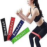 Set aus 4 Fitnessbändern - Fitnessbänder / Trainingsbänder / Gymnastikbänder / Übungsbänder...
