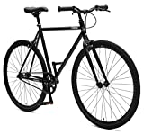 Critical Cycles Harper Fixed Gear Urban Commuter Single Speed Bike, Matte Black, 53cm