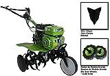 Motorhacke Gartenfräse Mechanische 7HP 3Geschwindigkeiten Große Räder