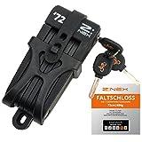 Z:NEX Fahrradschloss/Faltschloss/Gliederschloss mit hoher Sicherheitsstufe/5mm speziell gehärteter...