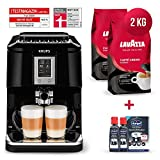 Krups Kaffeevollautomat Testsieger Megapack 2x 1 Kg Lavazza Caffe Crema Classico Kaffeebohnen Kaffee...
