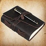 Leder Tagebuch & Pen Set, ANIQUE Bound Schreiben Notebook, Vintage handgemachte personalisierte...
