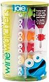 Freude 49556Wine Watchers Marker Glas/Silikon bunt, 45x 35x 25cm Set 6