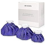 Navaris Kühlbeutel & Wärmflasche Set - 3 Größen warm und kalt - Kühlpads Eisbeutel...