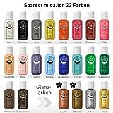 Farbstark Bodypainting Farben Sparset - hautfreundliche Körperfarbe in Profi Qualität (auch für...