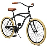 Critical Cycles Herren Chatham Men's Single Speed, Graphite und Beige Beach Cruiser, Graphite and...