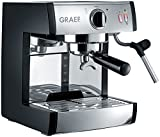 Graef ES702EU01 Siebträger-Espressomaschine, 1410 W, 16 Bar, Schwarz-matt/edelstahl