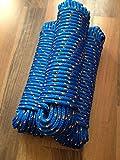Nr.10 Blaues Tauwerk,Tau 10 mm x 30 m,Ankerleine,Seil,Leine,Festmacher,Allzweckseil, Segeltauwerk,...