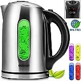 Monzana® Wasserkocher Teekessel Teekocher ✔Edelstahl ✔BPA frei ✔1,7 Liter ✔LED Beleuchtung...