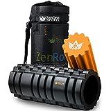 Faszienrolle Hart & Weich ZenRoller 2in1 + Gratis E-Book & Übungsposter I Premium Massage Faszien...