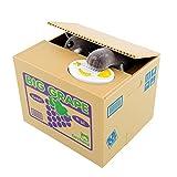 Peradix Gelddose Diebstahl Katzen Elektronische Spardose witziges Geschenk für Kinder (Grau-Katze)