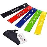 Fitnessband Set 5 Pravon Fitnessbänder Damen Gymnastikband gummi set Resistance Bands beine mit...