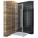 Duschabtrennung 90x90cm Duschkabine Eckeinstieg Duschwand Duschtür Seitenwand Dusche Scharniertür...