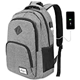 AUGUR Laptop Rucksack Business Rucksack für 15.6 zoll Laptop Schulrucksack mit USB-Ladeanschluss...