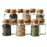 MamboCat 12er Set Gewürzgläser | Füllmenge 150 ml | wiederverwendbare Glasdose + Korkverschluss |...