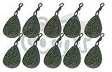 10 x Karpfen Fischen Gerät Gewichte 1,5 oz 2oz 2,5 Unzen 85g 3,5 oz Flach Birne Style Gewicht alle...