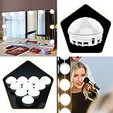 10 Stück LED Spiegellampen, Hollywood-Stil Spiegelleuchte, Spiegellicht Set für Kosmetikspiegel,...