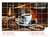 Graz Design 761665_20x20_80 Fliesenaufkleber Espresso/Kaffee-Bohnen für Kacheln |...