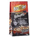 Bruzzzler 5 kg Premium BBQ Holzkohlebriketts, Grillkohle, grillbereit in ca. 35 Minuten,...