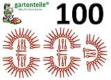 100 Kunststoffmesser passend für BOSCH ALM28 Luftkissen Rasenmäher Messer Luftkissenmäher...