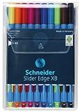 Schneider Slider Edge XB Kugelschreiber (Dreikant-Stifte mit Strichbreite XB) 10er Etui sortiert