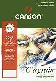 Canson 400060620 C a grain Zeichenpapier, A5, naturweiß