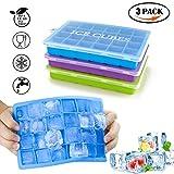 3 Stück Eiswürfelform, ACMETOP Silikon Eiswuerfel Form Eiswuerfelbehaelter Mit Deckel Ice Cube...