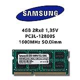 Samsung 4GB (1x 4GB) DDR3 1600MHz (PC3L 12800S) SO Dimm Low Voltage Notebook Laptop Arbeitsspeicher...