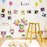 ALLDOLWEGE Romantische cute cartoon Foto Aufkleber wand Aufkleber Kinderzimmer Mädchen schlafzimmer...