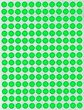 Bunte Sticker Neon Grün 8 mm runde Punkt Aufkleber–inverschiedenen Farben Größe 0,8...