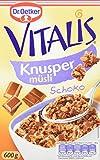 Dr. Oetker Vitalis Knuspermüsli Schoko: Knuspermüsli mit Vollmilchschokolade, 5er Packung (5 x...