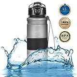 Tomppow Trinkflasche 1l Wasserflasche 1000ml Sport Tritan Sportflasche Freigetestet BPA Frei und...