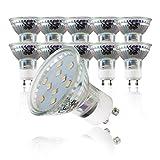 B.K.Licht LED Leuchtmittel I GU10 Lampenfassung I 10 x 3 W LED Lampen I warm-weiß leuchtende...