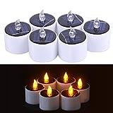Pawaca 6 STÜCKE LED Kerzen Romantische Wasserdichte Licht Sinn Solar Kerze Teelichter für Camping...