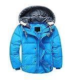 YoungSoul Kinder Daunenjacken Winterjacke mit abnehmbarer Kapuze für Jungen Mädchen Kinderweste...
