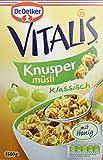 Dr. Oetker Vitalis Knuspermüsli klassisch: Großpackung knuspriges Frühstücksmüsli mit Rosinen,...