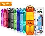 HoneyHolly Sport Trinkflasche - 400/500/700/1000ml - BPA frei wasserflasche auslaufsicher für Gym,...
