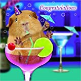 Meerschweinchen Karte - Cocktails - Glückwunschkarte