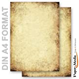 Briefpapier - Motivpapier ALTES PAPIER (Beidseitig) 50 Blatt DIN A4 90g/m²