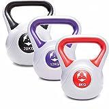 3Stück KettleBell »Powermonster« Kugelhantel bis zu 46kg Gesamtgewicht wählbar / Handgewicht...
