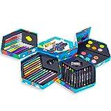 Craft Kinder 52 Stück Art-Künstler-Set, Sechskant, Buntstifte, Wasserfarben, Stifte