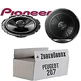 Peugeot 207 - Lautsprecher Boxen Pioneer TS-G1720F - 16cm 2-Wege Koax Koaxiallautsprecher Auto...