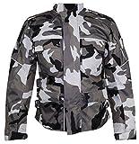 Motorrad Textil Jacke Motorradjacke Racing Wasserdicht Schutzjacke Sommer Camo Camouflage (3XL)