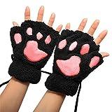 Dosige 1 Paar Nette Winter Warme Katze Pfote Fingerlose Handschuh Handschuhe für Kinder Mädchen...