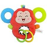 Baby Kleinkindspielzeug Stoffspielzeug Beißring Hand Rasseln Süße Tiere Klingel ab 2 Monate...