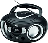 AEG SR 4374 Stereoradio mit CD inklusiv USB-Port, AUX-IN, LCD-Display schwarz